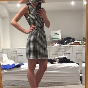 Juicy gingham dress with back cutout